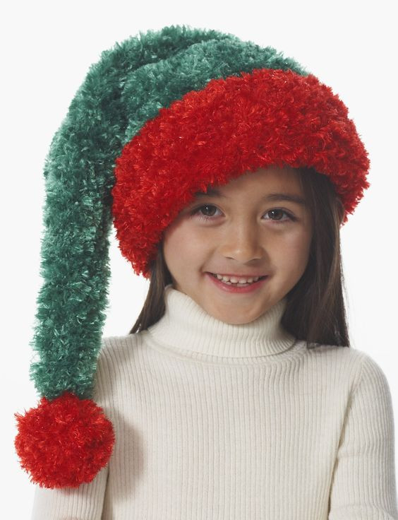 Best Of Yarnspirations Bernat Child S Santa Hat Knitted Christmas Hats Of Adorable 50 Models Knitted Christmas Hats