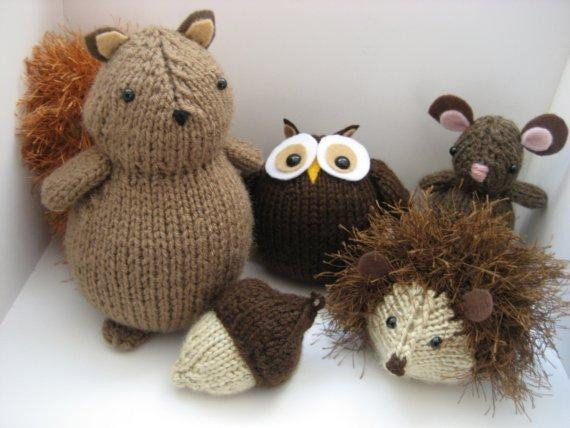 Best Of You Have to See Woodland Animals Knit Pattern Set by Amy Knitted Animals Of Attractive 49 Pics Knitted Animals