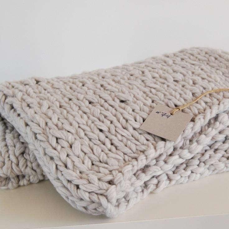 chunky knit blanket NOT YOUR GRANDMA S Pinterest