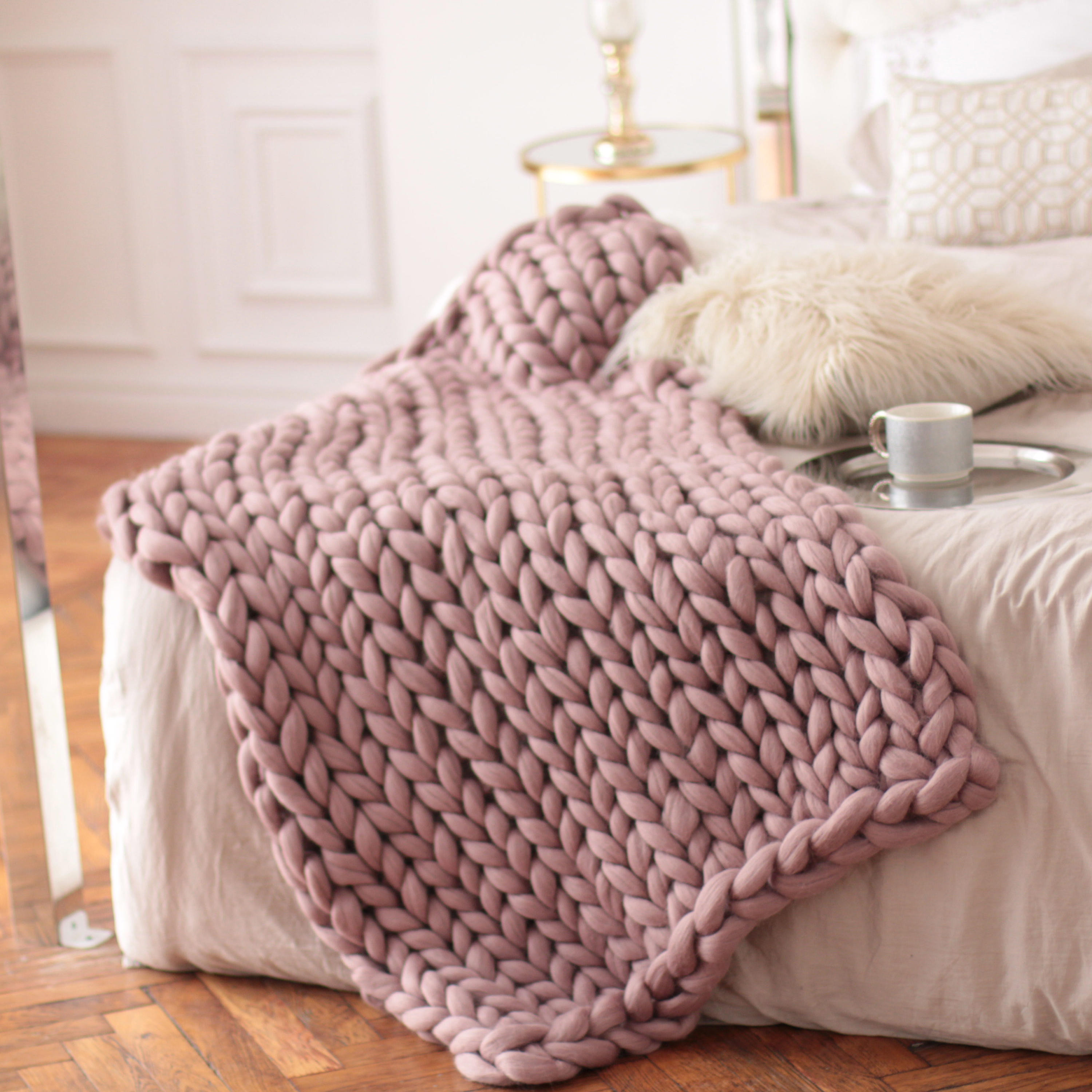 Big Knit Blanket New Wool Hugs Dusty Pink Chunky Knit Blanket Pink Throw Blanket Of Delightful 46 Pictures Big Knit Blanket
