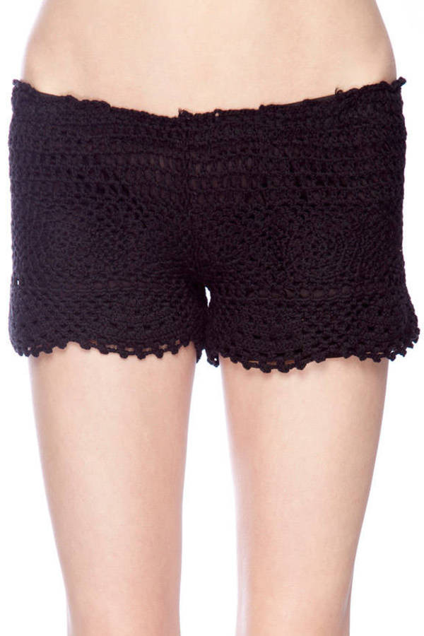 Black Crochet Shorts Awesome Crochet Pull Shorts $24 00 Of Superb 42 Pictures Black Crochet Shorts