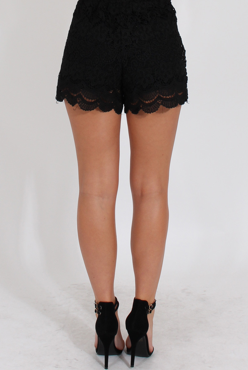 Black Crochet Shorts Inspirational Black Crochet High Waisted Shorts Acacia Of Superb 42 Pictures Black Crochet Shorts