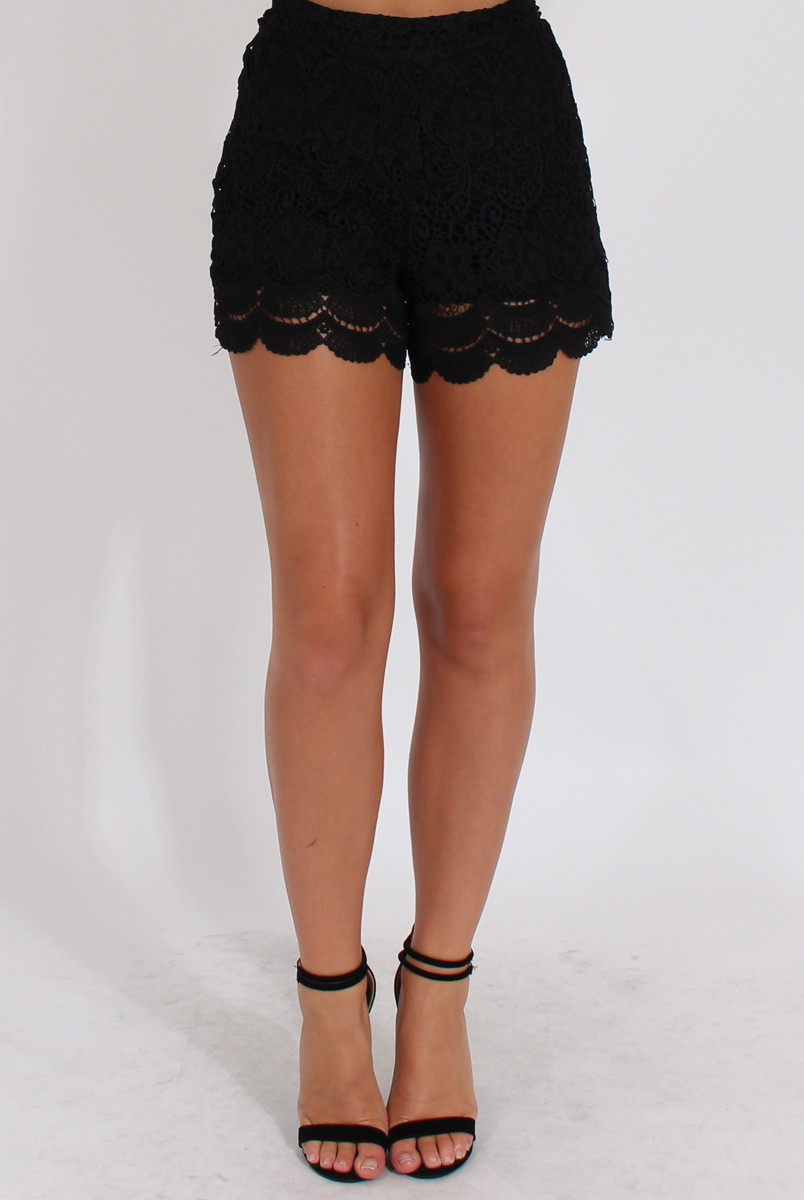Black Crochet Shorts Unique Black Crochet High Waisted Shorts Acacia Of Superb 42 Pictures Black Crochet Shorts