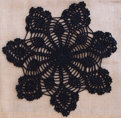 "Black Paper Doilies Awesome 8"" Bloom Shaped Crochet Lace Doilies Placemats Handmade Of Wonderful 42 Photos Black Paper Doilies"