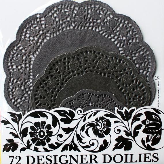 Black Paper Doilies Awesome Black Lace Paper Doilies 72 Pcs by Bakeitpretty On Etsy Of Wonderful 42 Photos Black Paper Doilies