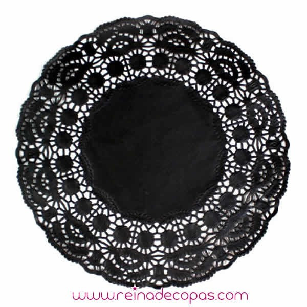 Black Paper mini doilies for party doilies and table