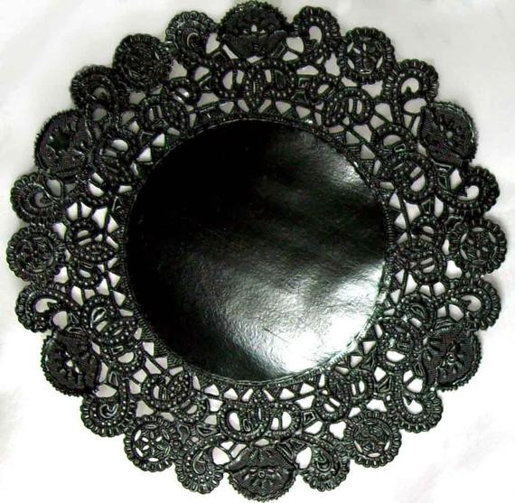 Black Paper Doilies Inspirational 25 Black Paper Doilies 10 Inch Black and Perfect for Of Wonderful 42 Photos Black Paper Doilies