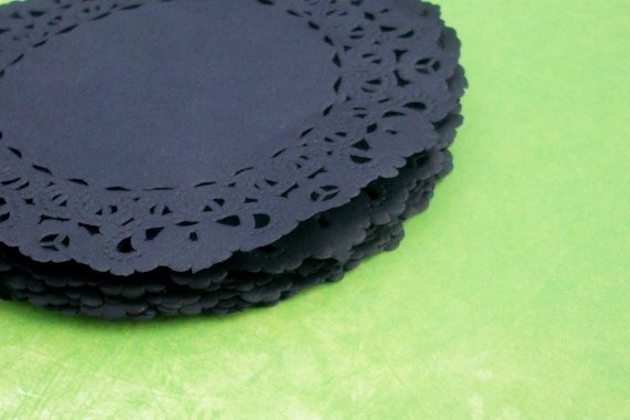 Black Paper Doilies Lovely Hand Dyed Black Lace Paper Doilies 4 by thepaperdoily On Etsy Of Wonderful 42 Photos Black Paper Doilies