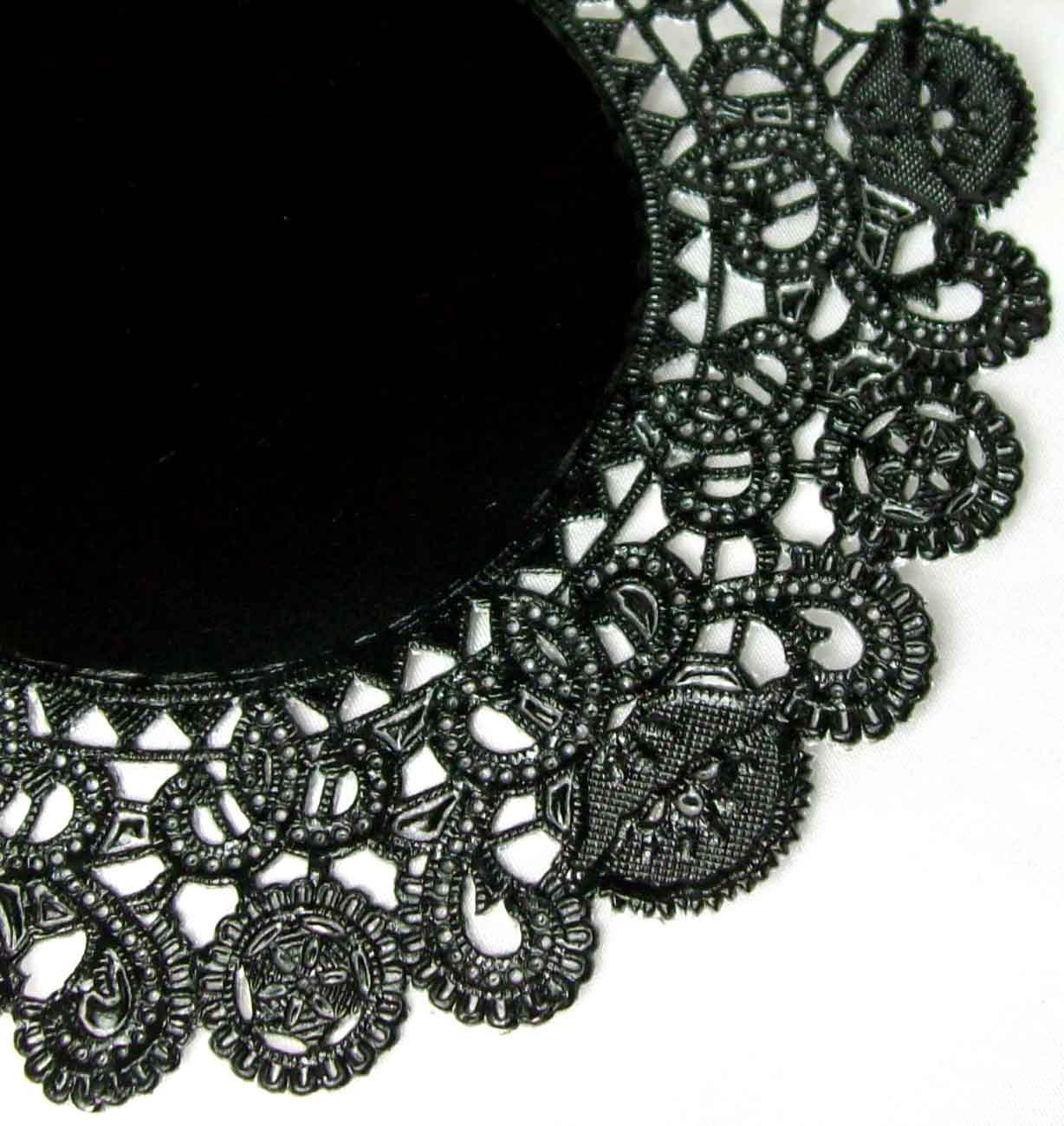 Black Paper Doilies Luxury 12 Black Paper Doilies Large 10 Inch Size Perfect for Of Wonderful 42 Photos Black Paper Doilies