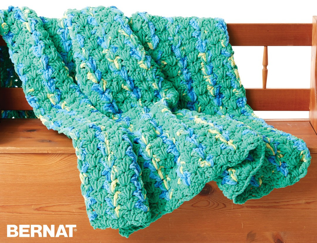 Blanket Yarn Patterns Awesome Bernat Bright and Easy Crochet Blanket Crochet Pattern Of Superb 45 Pictures Blanket Yarn Patterns