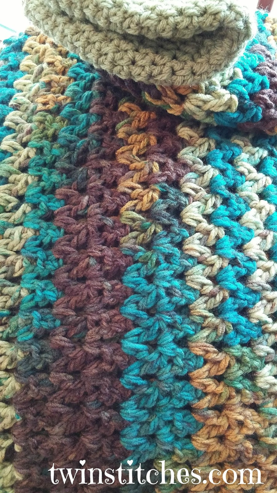 Blanket Yarn Patterns Unique Tw In Stitches Sedona Wobbly Stripes Blanket Free Of Superb 45 Pictures Blanket Yarn Patterns