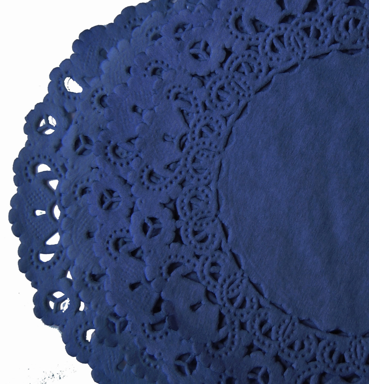 NAVY BLUE Paper Lace Doilies 4 6 8 10 Sizes Hand by