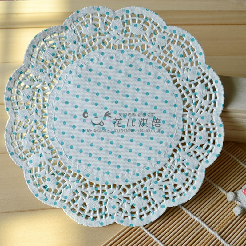 "Blue Paper Doilies Lovely 10 5""inch Blue Polka Dots Paper Doilies Doyleys Placemat Of Innovative 42 Pics Blue Paper Doilies"