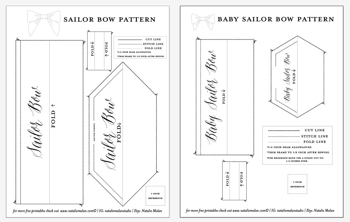 Bow Tie Pattern Awesome Diy Sailor Bow Tutorial and Free Pattern Natalie Malan Of Gorgeous 43 Photos Bow Tie Pattern