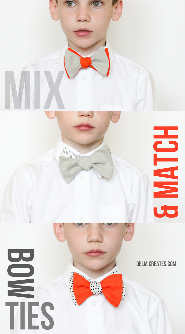 Bow Tie Pattern New Mix and Match Bow Ties – Free Pattern and Tutorial Of Gorgeous 43 Photos Bow Tie Pattern