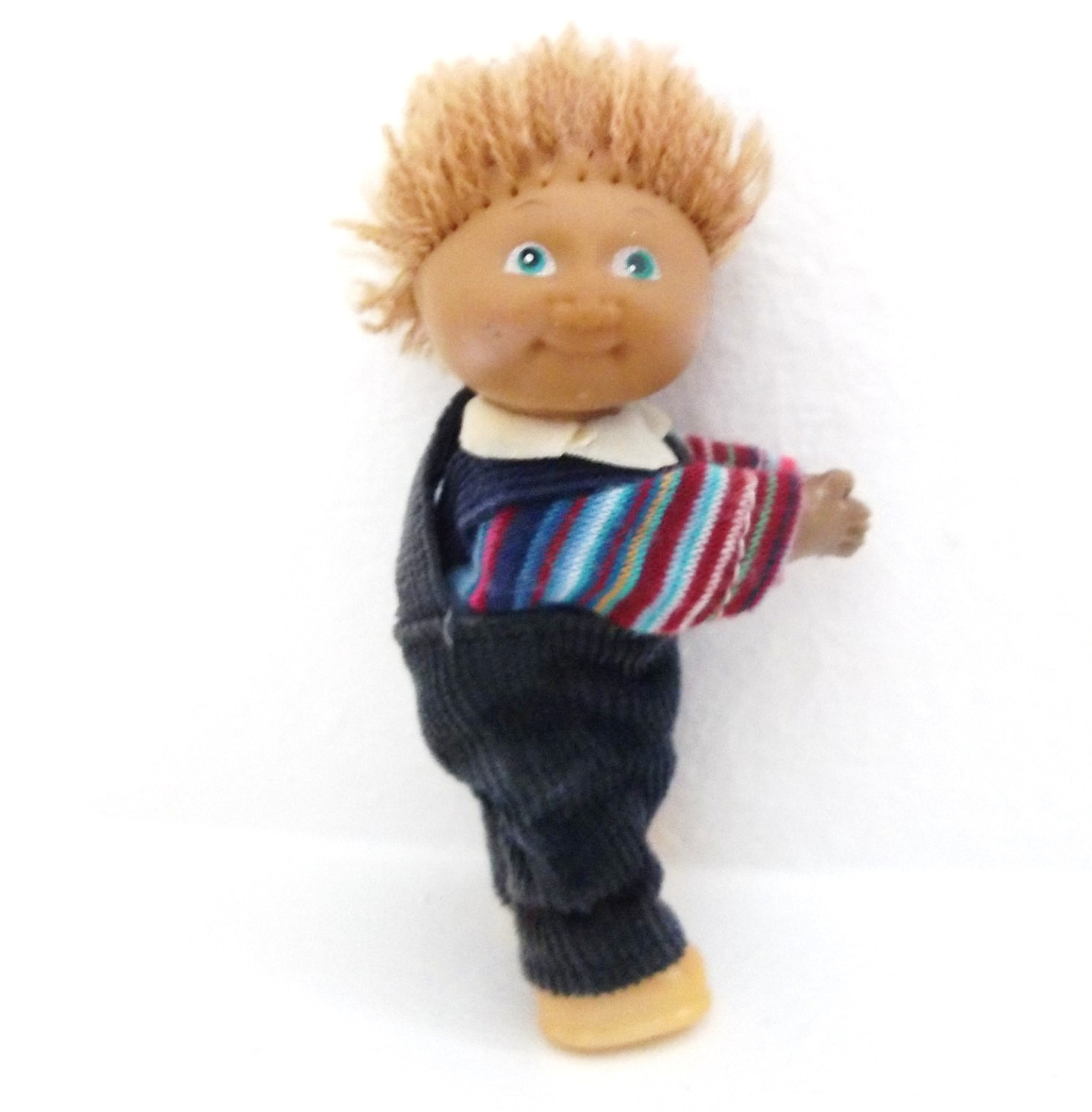 Cabbage Patch Kid Boy Doll Miniature Clip 1980s Toy