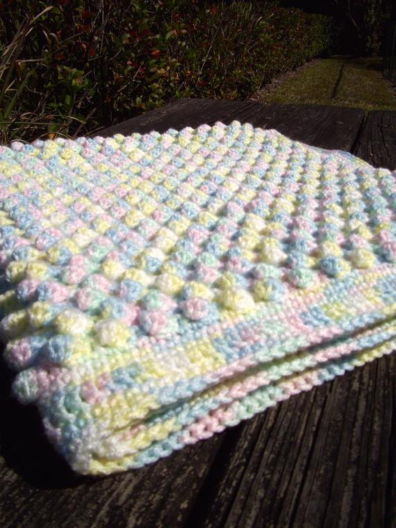 Bubble Baby Blanket Beautiful Crochet Baby Bubble Afghan Mixed Pastel Bobble by Penguinyarns Of Attractive 43 Ideas Bubble Baby Blanket
