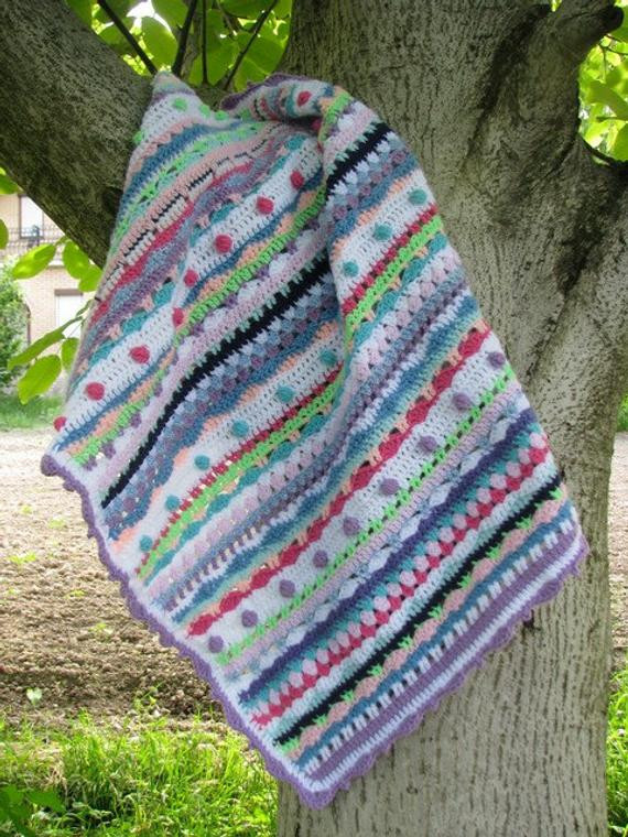 Bubble Baby Blanket New Afghan Crochet Baby Blanket Bubbles Colorful Bright Of Attractive 43 Ideas Bubble Baby Blanket