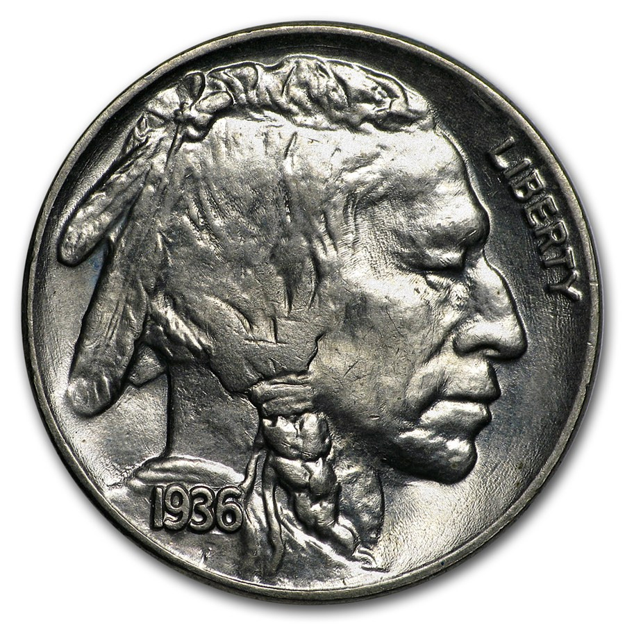 Buffalo Nickel Fresh 1936 Buffalo Nickel Ms 63 Of Beautiful 46 Models Buffalo Nickel
