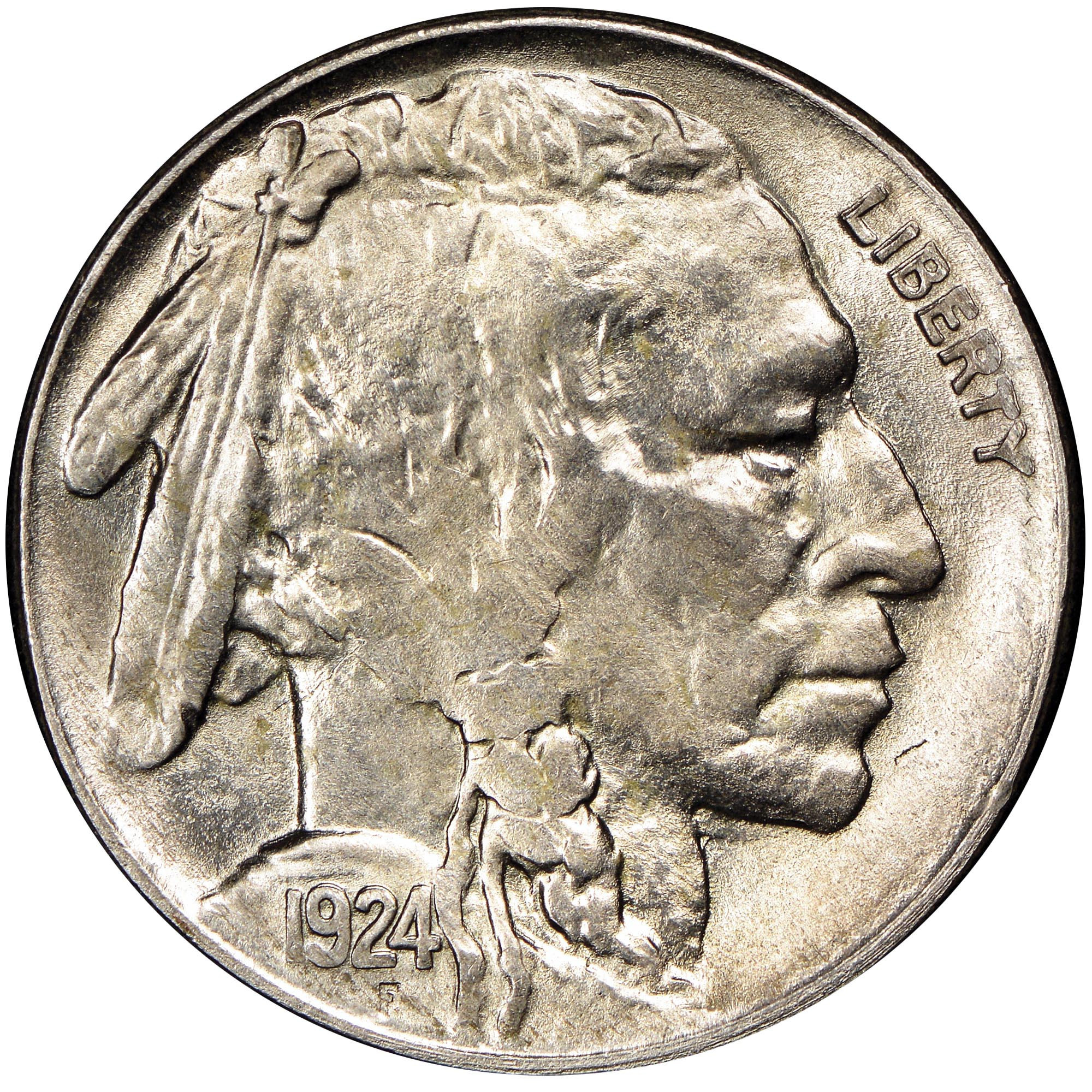 Buffalo Nickel New 1924 S 5c Ms Buffalo Five Cents Of Beautiful 46 Models Buffalo Nickel