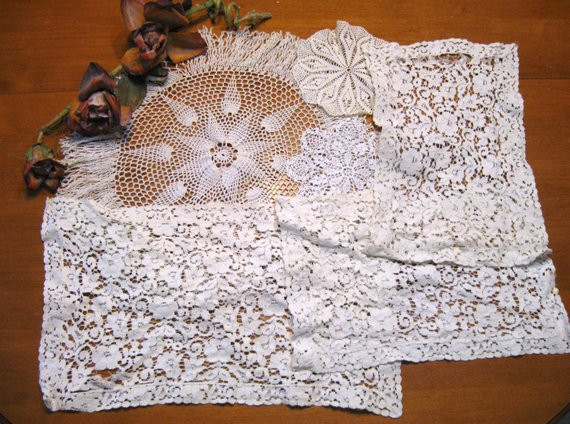 Bulk Doilies Inspirational 6 Piece Bulk Lot Cutter Fabric Vintage Linens Doilies Of Marvelous 42 Pictures Bulk Doilies