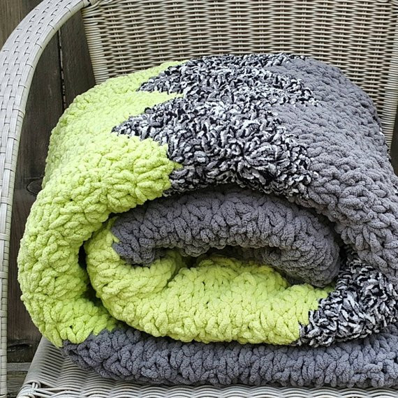 Bulky Crochet Blanket Fresh Bulky Blanket Chunky Crochet Blanket by Serendipityasalways Of Amazing 50 Ideas Bulky Crochet Blanket