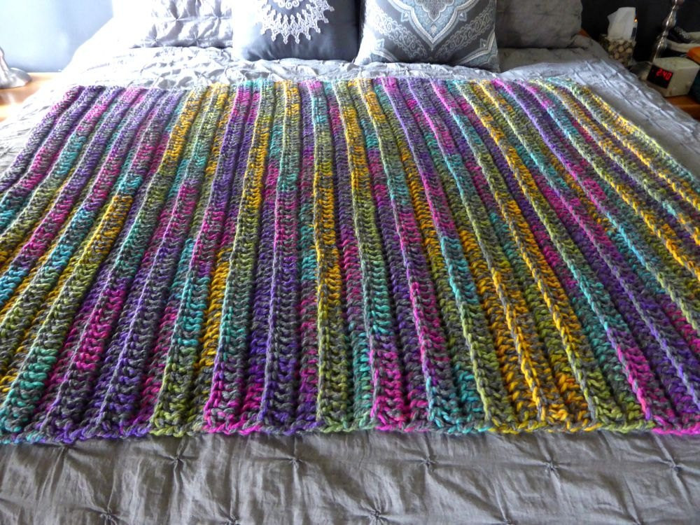Bulky Crochet Blanket Fresh Crochet Knit Chunky Thick Bulky Ribbed Blanket Afghan Throw Of Amazing 50 Ideas Bulky Crochet Blanket
