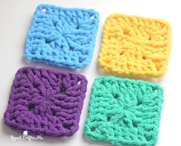 Bulky Crochet Blanket Lovely Bright and Bulky Bernat Blanket Squares Repeat Crafter Me Of Amazing 50 Ideas Bulky Crochet Blanket