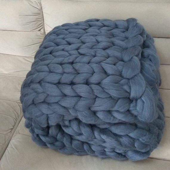 Bulky Crochet Blanket Lovely Chunky Knit Blanket Super Bulky Arm Knitting by Goodsbymika Of Amazing 50 Ideas Bulky Crochet Blanket