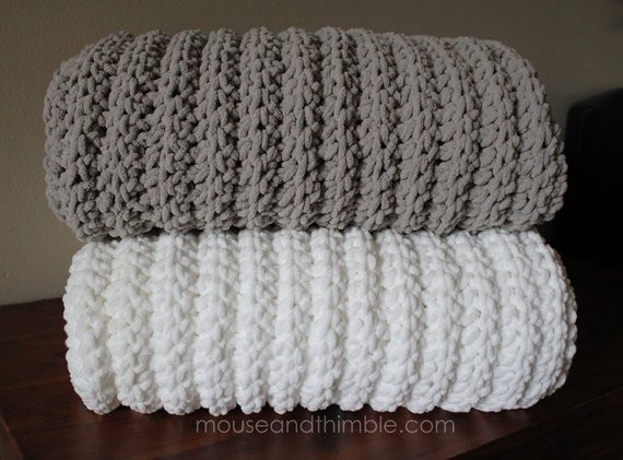 Bulky Crochet Blanket New Extra Bulky Chenille Fisherman Blanket by Of Amazing 50 Ideas Bulky Crochet Blanket