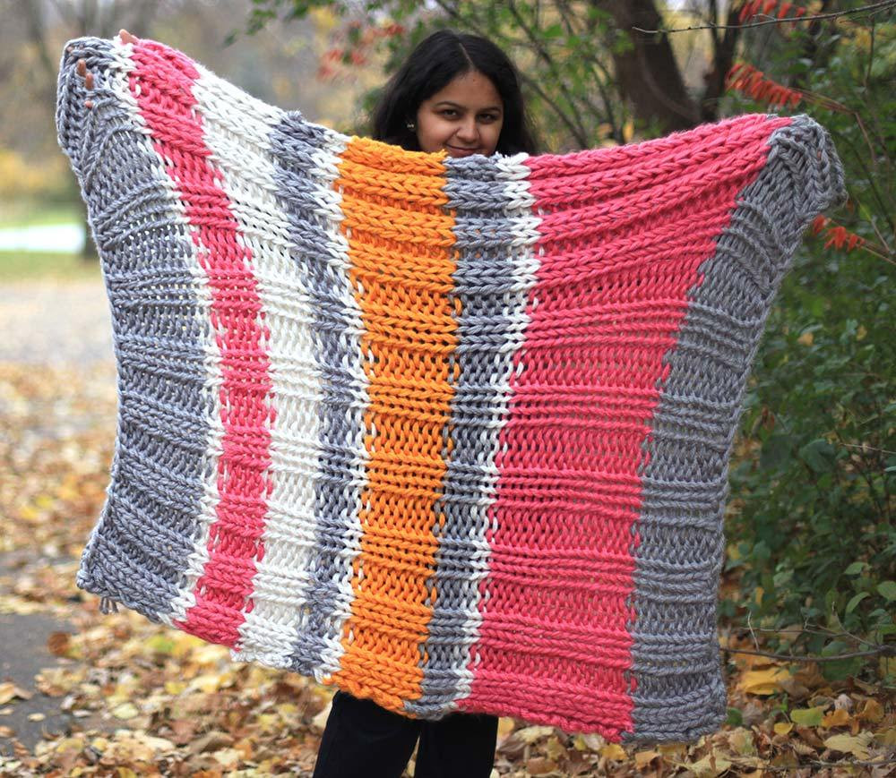 Bulky Knit Blanket Best Of Bulky Knit Blanket Free Pattern Using 3 Strands Of Yarn Of Top 45 Images Bulky Knit Blanket