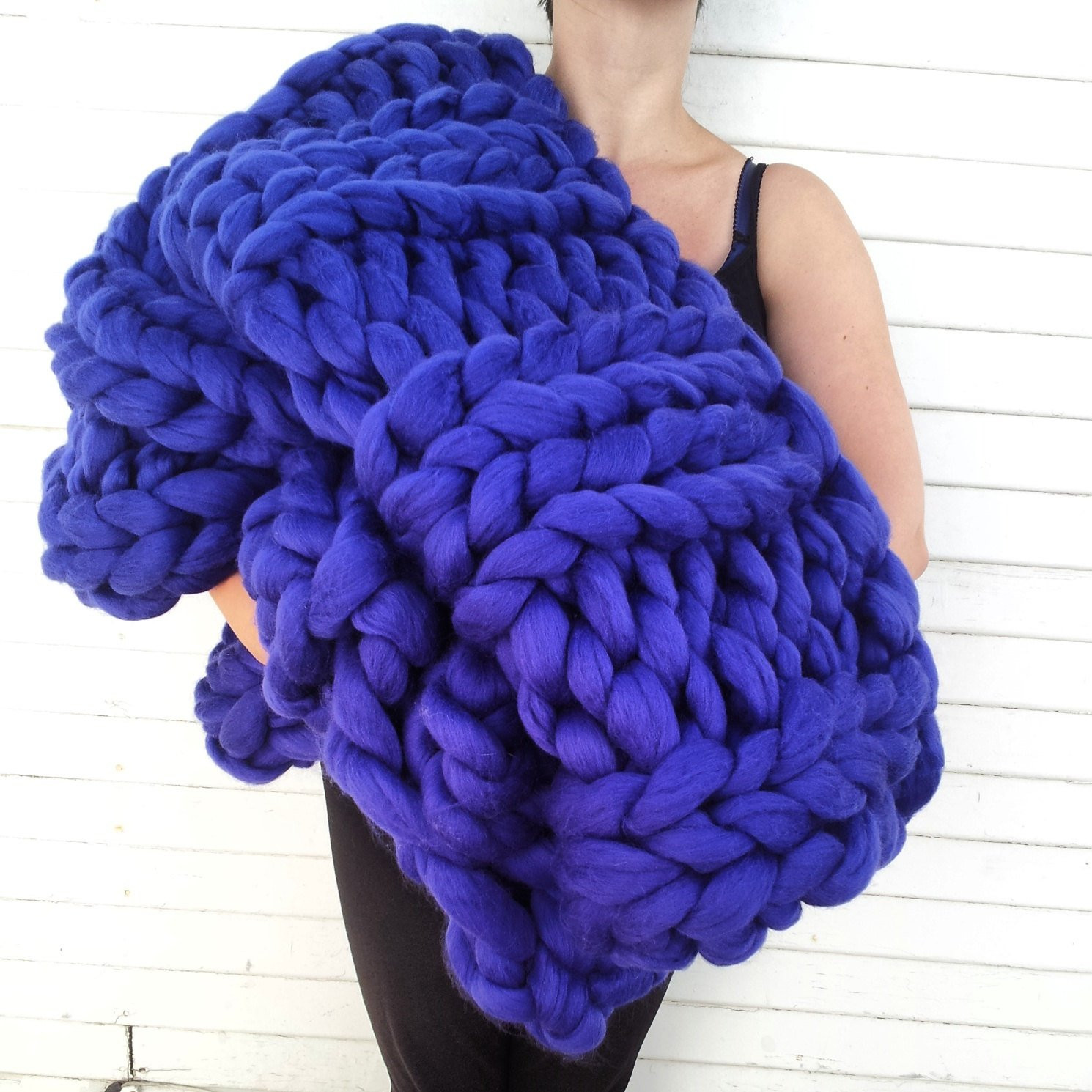 Bulky Knit Blanket Unique Super Chunky Knit Merino Blanket 40 X 58 by Lilyandpeabody Of Top 45 Images Bulky Knit Blanket