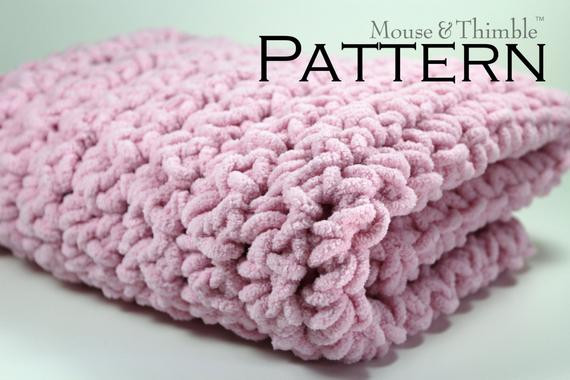 Bulky Yarn Afghan Patterns Awesome Chunky Fleece Baby Blanket Super Bulky Crochet Pattern 26 Of Innovative 43 Ideas Bulky Yarn Afghan Patterns