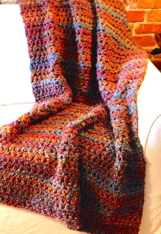 Bulky Yarn Crochet Afghan Patterns Inspirational Blanket is 2 Strands Held to Her Of Yarn Bee Fireside Of Wonderful 46 Models Bulky Yarn Crochet Afghan Patterns