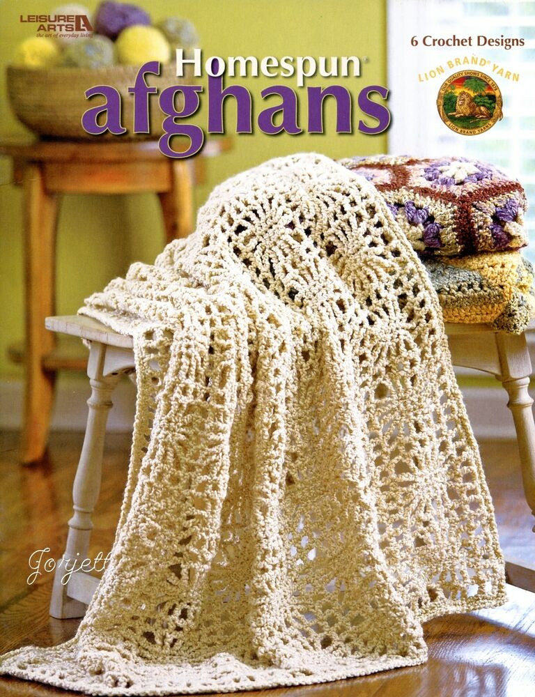 Homespun Afghans bulky yarn crochet patterns
