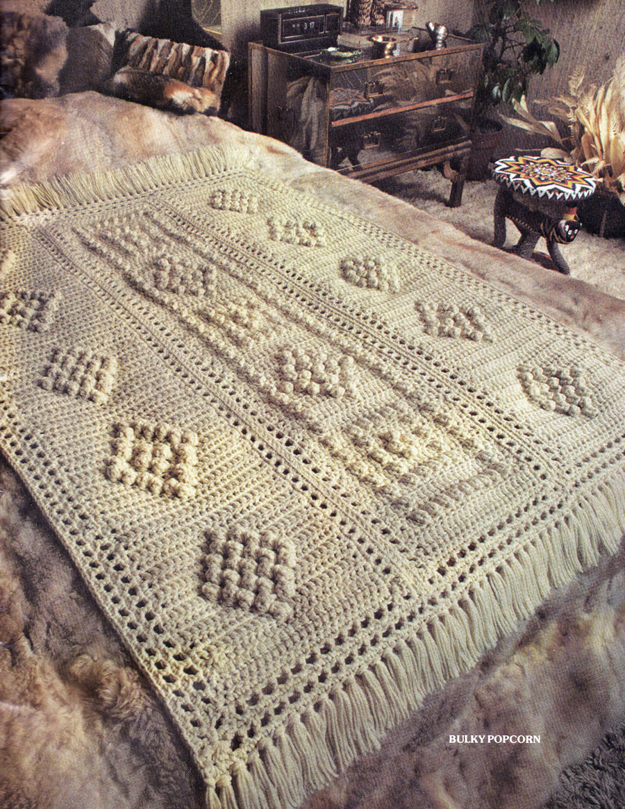 Bulky Yarn Crochet Afghan Patterns Lovely Afghan Crochet Pattern Bulky Popcorn Crochet Afghan Pattern Of Wonderful 46 Models Bulky Yarn Crochet Afghan Patterns