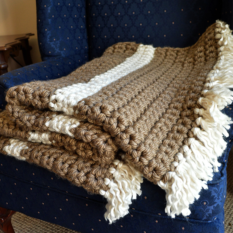 Mega Bulky Yarn Crochet Blanket Cheap Eats and Thrifty