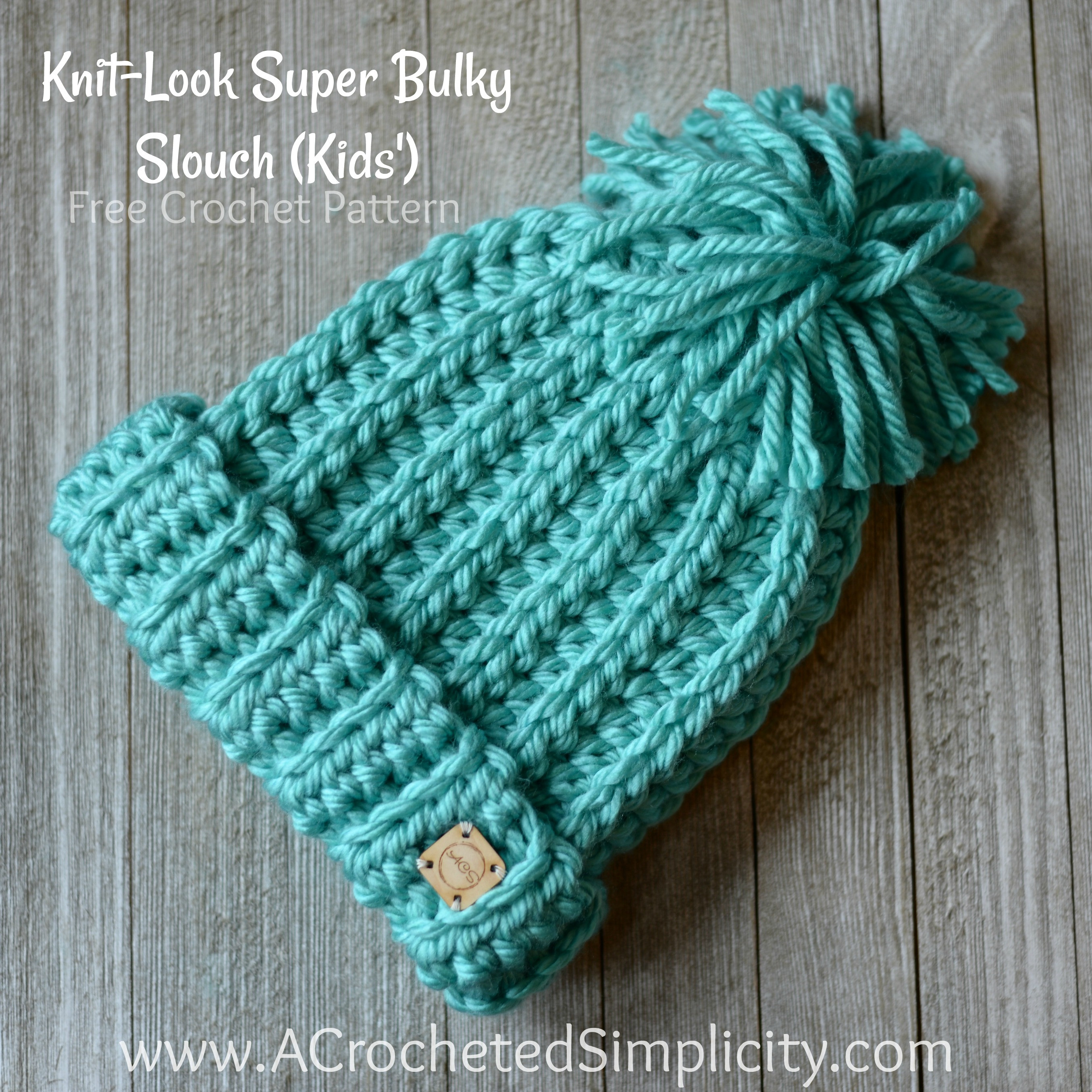 Bulky Yarn Crochet Patterns New Free Crochet Pattern Knit Look Super Bulky Slouch Kids Of Charming 49 Images Bulky Yarn Crochet Patterns