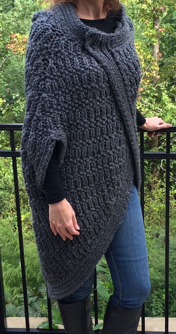 Bulky Yarn Patterns Awesome Free Knitting Pattern Of Cocoon Cape Quick Knit In Super Of Wonderful 44 Ideas Bulky Yarn Patterns