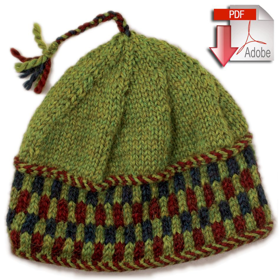 Checkerboard Hat Bulky Weight Pattern