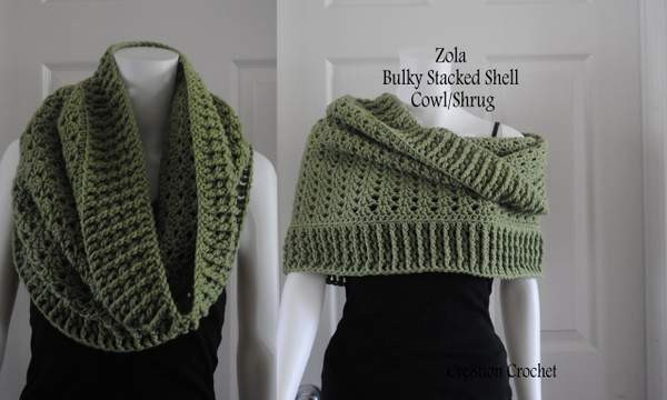 Bulky Yarn Scarf Pattern Crochet Unique Bulky Stacked Shell Cowl and Shrug Cre8tion Crochet Of Fresh 40 Ideas Bulky Yarn Scarf Pattern Crochet