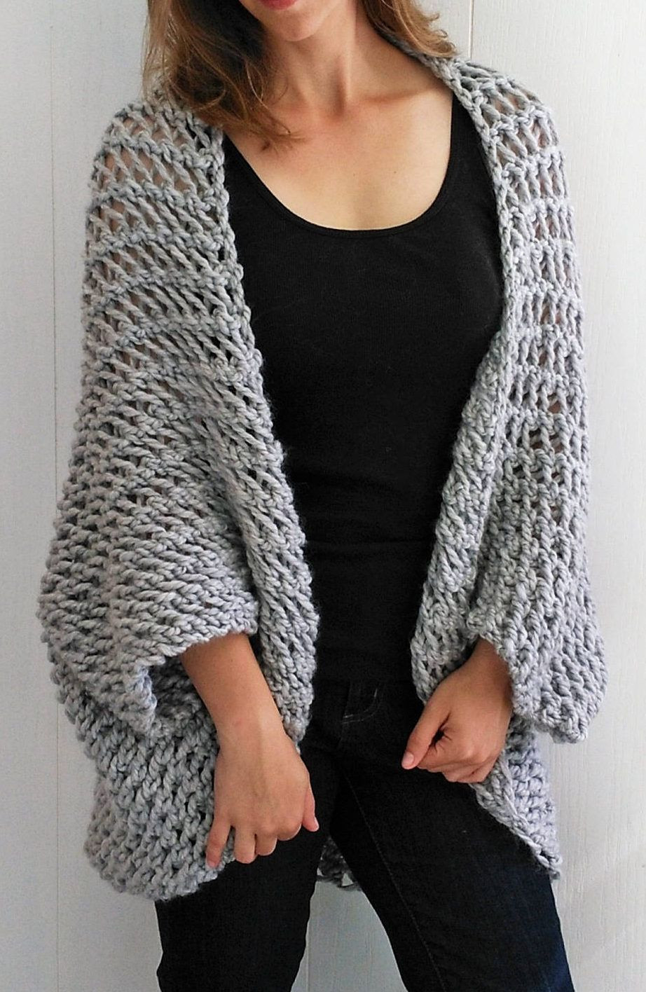 Bulky Yarn Sweater Patterns Best Of Free Knitting Pattern for Easy Cocoon Cardigan Easy Of Adorable 47 Pictures Bulky Yarn Sweater Patterns