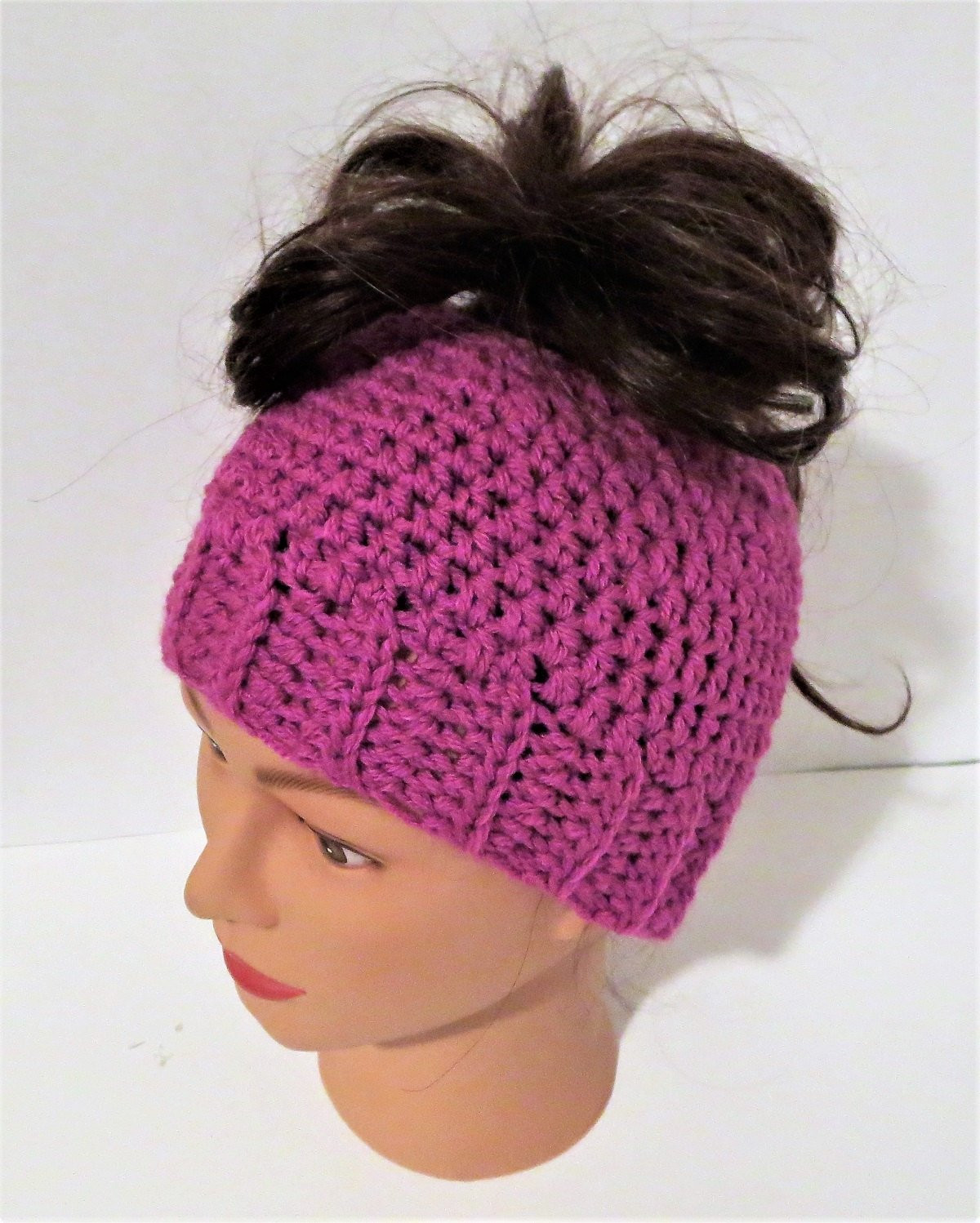 Bun Beanie Hat Beautiful Magenta Messy Bun Hat Pony Tail Beanie Crochet Messy Bun Of Contemporary 41 Pics Bun Beanie Hat