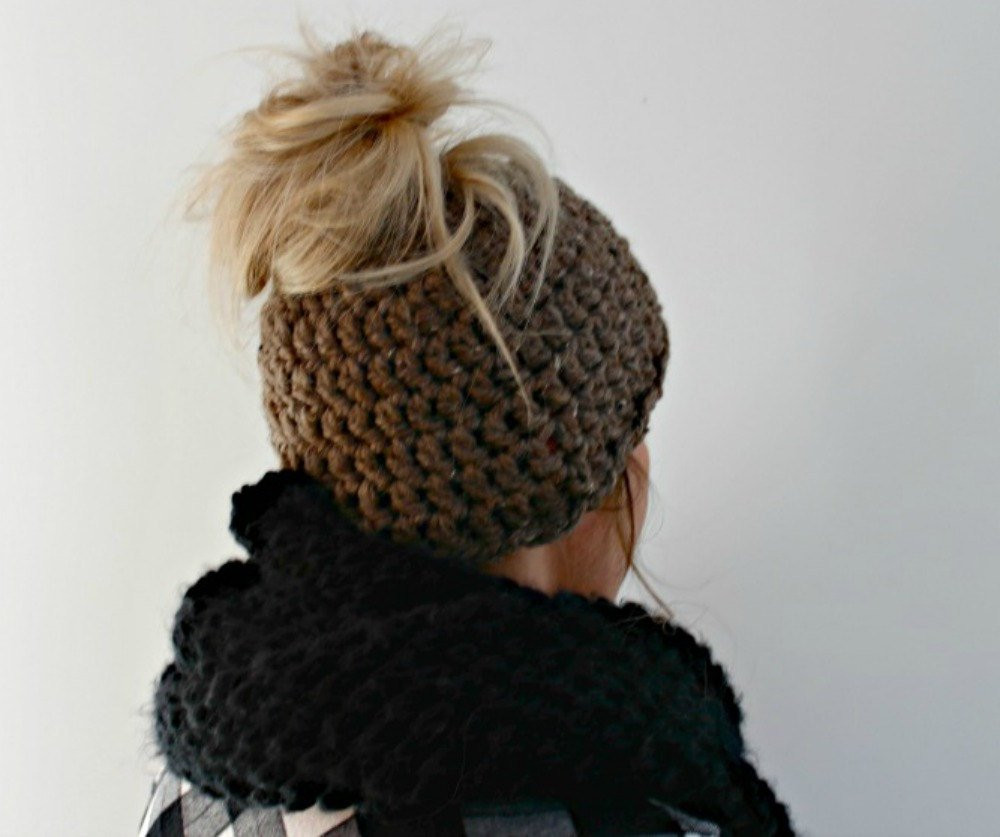 Bun Beanie Hat Luxury Messy Bun Beanie Messy Bun Hat Brown Crochet by Of Contemporary 41 Pics Bun Beanie Hat
