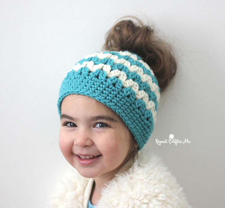 Bun Hat Elegant Crochet Mommy and Me Messy Bun Hats Repeat Crafter Me Of Great 46 Models Bun Hat