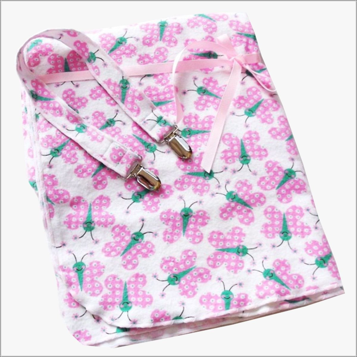 Butterfly Baby Blanket Awesome Pink butterfly Receiving Blanket and Bib Stroller Clip Of Amazing 43 Ideas butterfly Baby Blanket