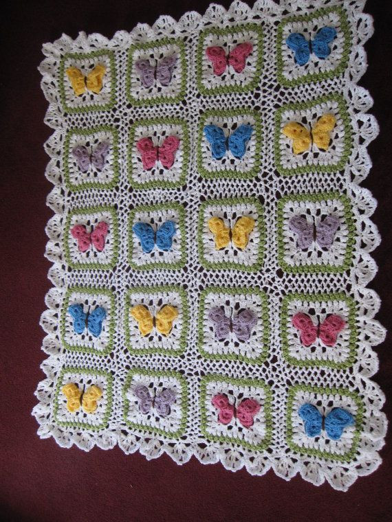 Butterfly Baby Blanket Inspirational Crocheted butterfly Kisses Baby Afghan by Of Amazing 43 Ideas butterfly Baby Blanket