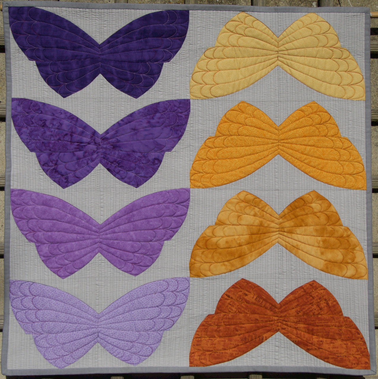 Butterfly Pattern Elegant Quilt Art by Olena Pugachova Curve Pieced butterfly Block Of Brilliant 42 Photos butterfly Pattern
