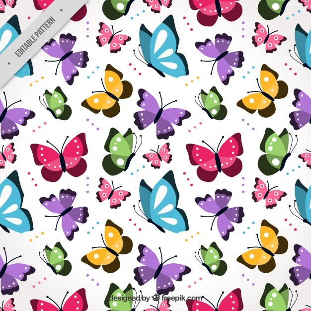 Butterfly Pattern Unique Colorful Pattern with Flat butterflies Flying Vector Of Brilliant 42 Photos butterfly Pattern