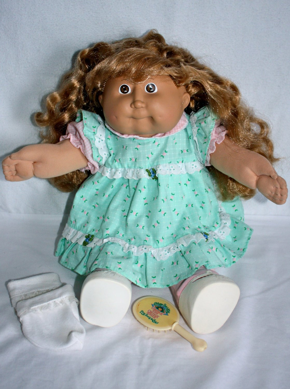 Vintage 1980s Original Cabbage Patch Doll with Real Blond